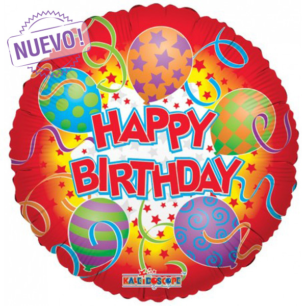 Maxiglobos Globos Metalizados decoracion de fiestas globos al por mayor happy-birthday-circulo-rojo