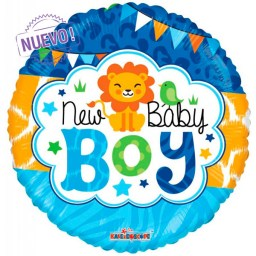 maxiglobos globos metalizados new baby boy gelly 19726