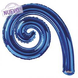 Maxiglobos-Globos Metalizados  kurly-espiral-royal-blue-14-gelly-15016